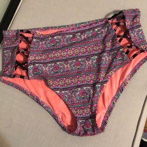 Women's high waist bikini bottom